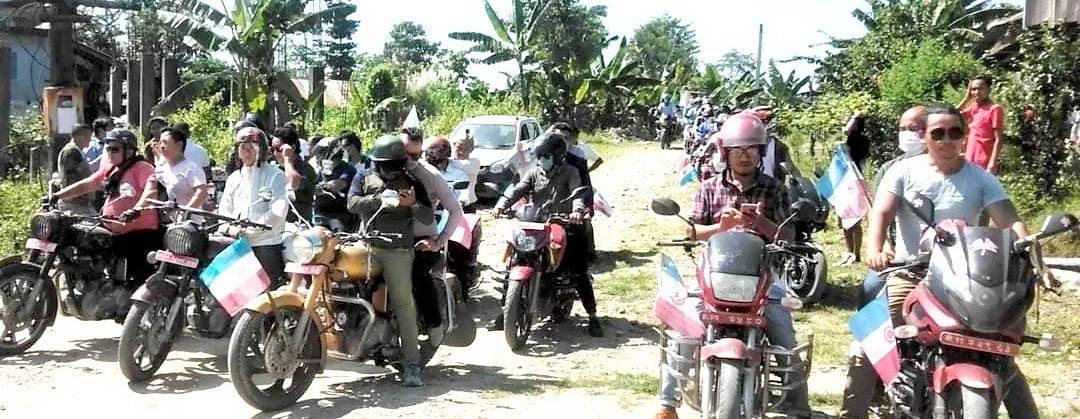 मोरङकाे मिक्लाजुङमा लिम्बुवान भोलेन्टियर्सको मोटरसाईकल रर्याली संगै फिल्ड कमाण्ड गठन