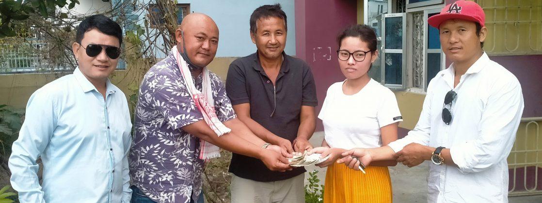 सानुसा लाओतीलाई उपचार सहयोग रकम हस्तान्तरण