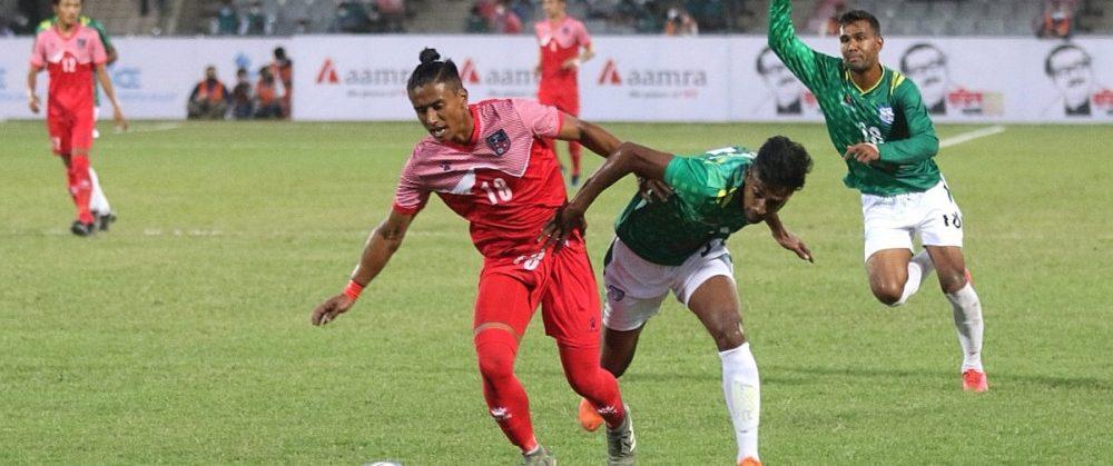 मैत्रीपूर्ण खेलमा नेपाल बंगलादेशसँग २-० ले पराजित