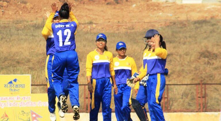 १ नम्बर प्रदेशले जित्यो प्रधानमन्त्री महिलाका क्रिकेटको उपाधि