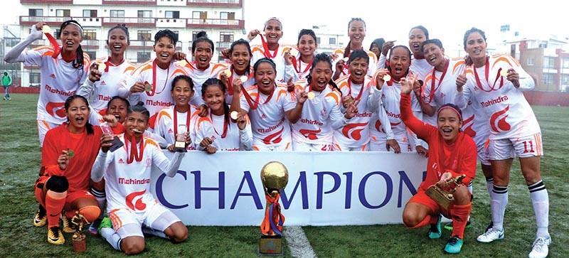 फूटबल महिला लिगको उपाधी एपीएफलाई, सर्वोत्कृष्ट खेलाडी एपीएफकी सरु लिम्बु