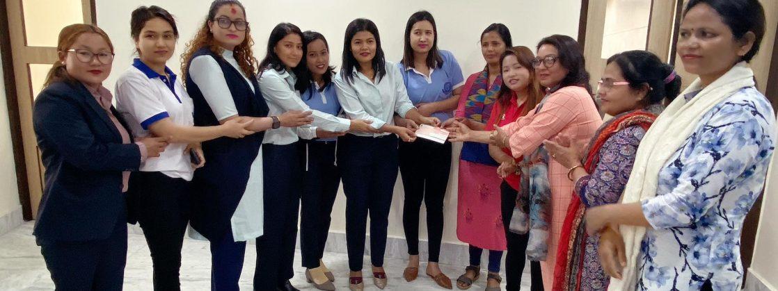 सहारा नेपालद्वारा नारी संचार गृहको अक्षयकोषमा १ लाख सहयोग