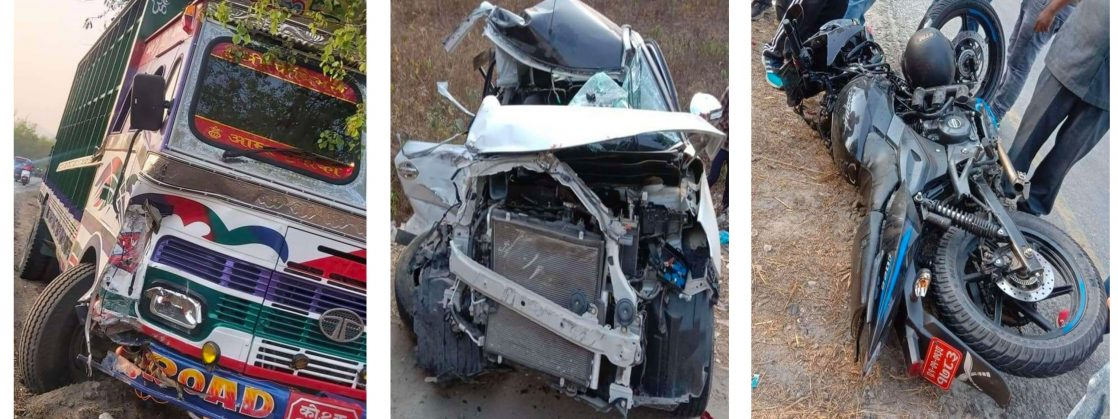 झापाको कनकाईमा सवारी दुर्घटनाः दुई जनाको मृत्यु, चारको अवस्था चिन्ताजक
